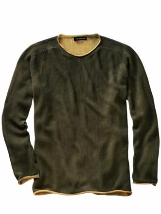 Schmirgel-Pullover ocker Detail 1