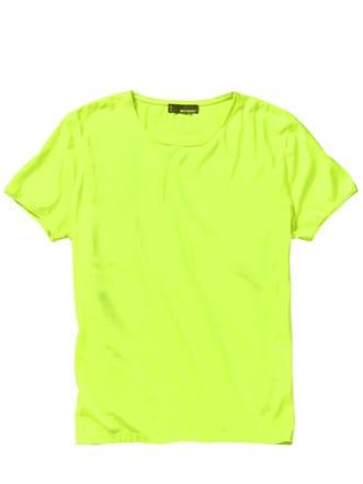 Leuchtstoff-T-Shirt gelb Detail 1