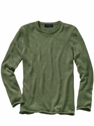 Charakter-Pullover salbeigrün Detail 1