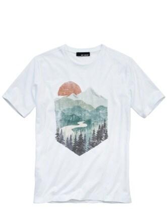 Bergluft-Shirt weiß Detail 1