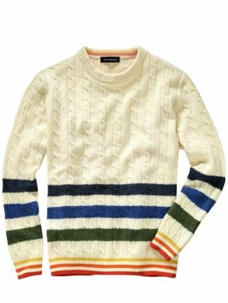 Weltmeer-Pullover Streifen offwhite Detail 1