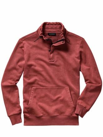 SUP-Sweatshirt sandwashed orange Detail 1