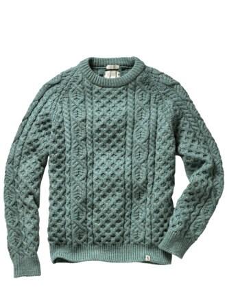 Yorkshire-Pullover eisblau Detail 1