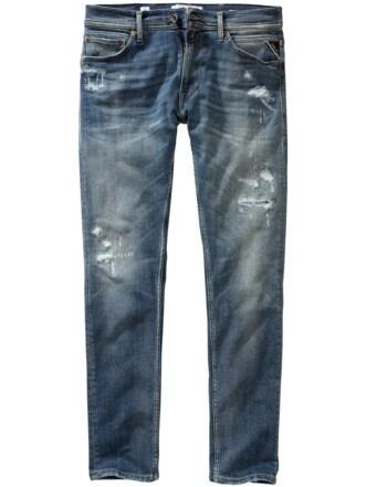 Gelebte Jeans Anbass blau Detail 1