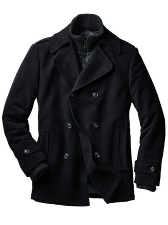 New Pea Coat schwarz Detail 1