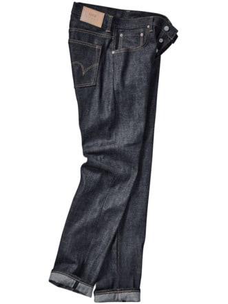 ED55 Jeans tiefblau Detail 1