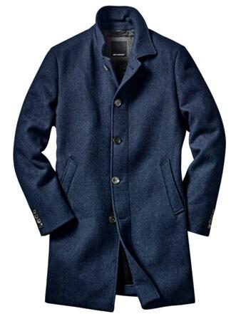 Höchste-Güte-Mantel nachtblau Detail 1