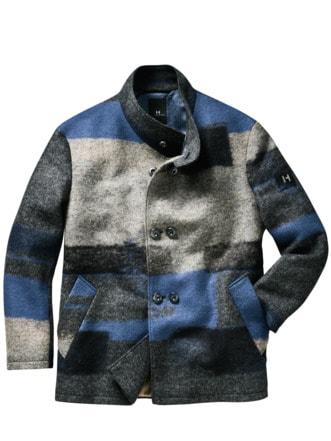 Designerjacke Salici blau/grau Detail 1