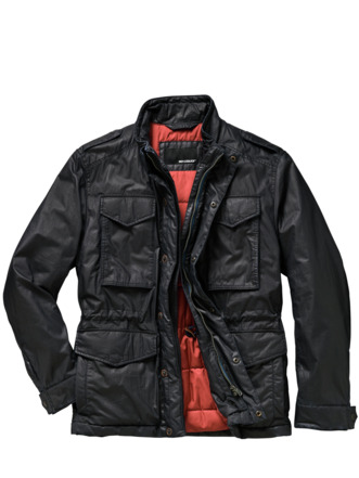 Dry-Wax-Jacke anthrazit Detail 1