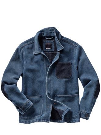 Lebensgefühl-Jacke indigoblau Detail 1