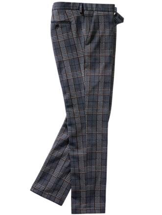 Jahr-und-Tag-Anzughose Karo blau/braun Detail 1
