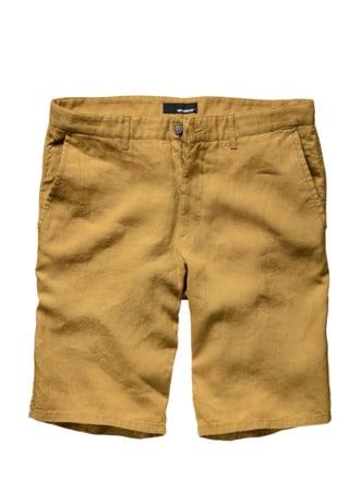 Flachs-Shorts senf Detail 1
