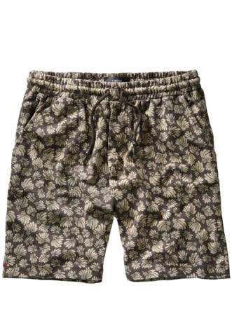 Shorts Cipan Print dunkelgrün Detail 1