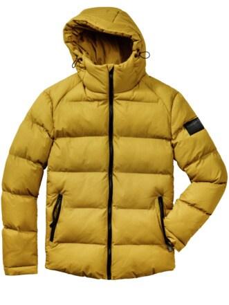 Polar-Jacke senf Detail 1