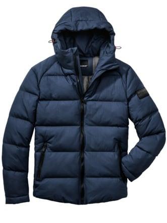 Polar-Jacke blau Detail 1
