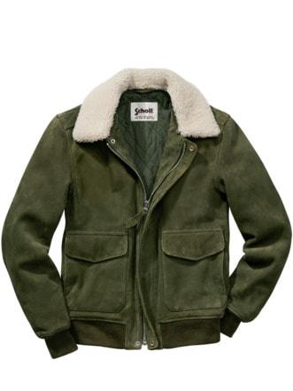 Schott Aviator Jacket khaki Detail 1