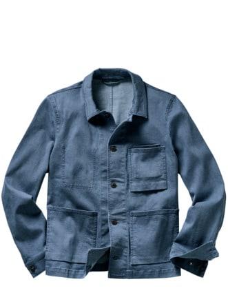 Fifty-Fifty-Overshirt blau Detail 1