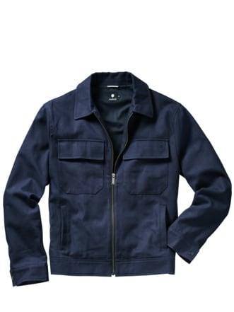 Worker Jacket Bondy tiefblau Detail 1