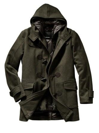 Monty Coat dunkelgrün Detail 1