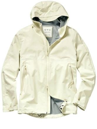 Short Raincoat weiß Detail 1