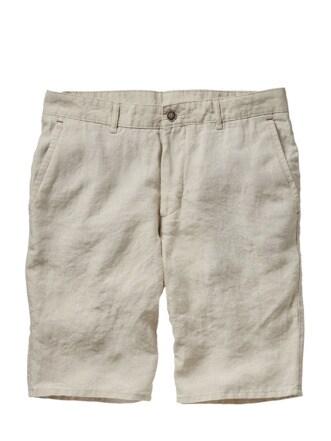 Flachs-Shorts natur Detail 1