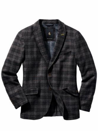 Split Jacket Karo anthrazit Detail 1