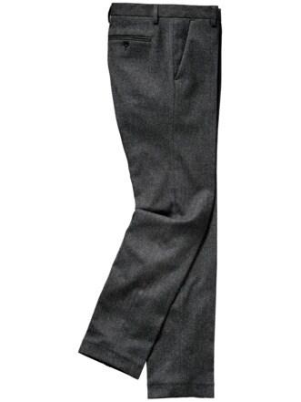 Auf-Achse-Anzughose grau Detail 1
