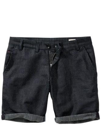Worker Shorts Streifen tiefblau Detail 1