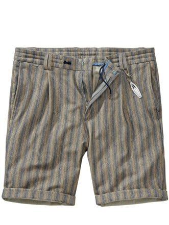 Shorts Cijuno Streifen sand/blau Detail 1