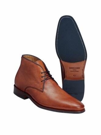 Goodyear-Boot cognac Detail 1