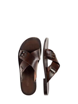 X-Sandale braun Detail 1