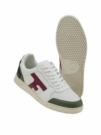 Upcycled Sneaker Hazel weiß/grün Detail 1