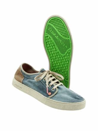 Veggie-Sneaker Heisei blue verdigris Detail 1