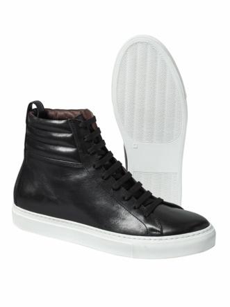 High Top Sneaker schwarz Detail 1