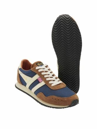 Trainer Sneaker blau/beige Detail 1