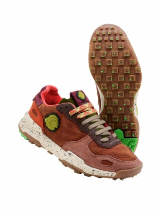 Recycled Sneaker oxide brown Detail 1