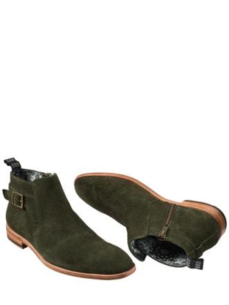 Maharadscha-Boot oliv Detail 1
