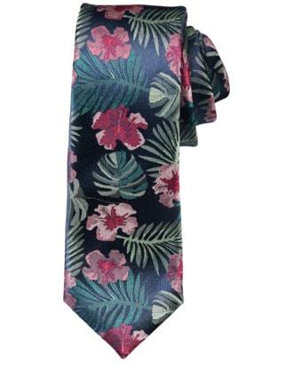 Aloha-Krawatte mitternachtsblau Detail 1