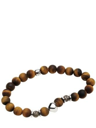 Tiger-Armband gelbbraun Detail 1