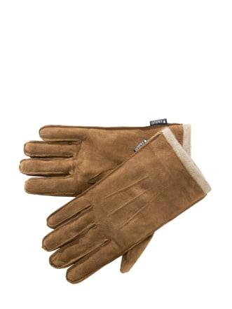 Soft-Lederhandschuhe hellbraun Detail 1