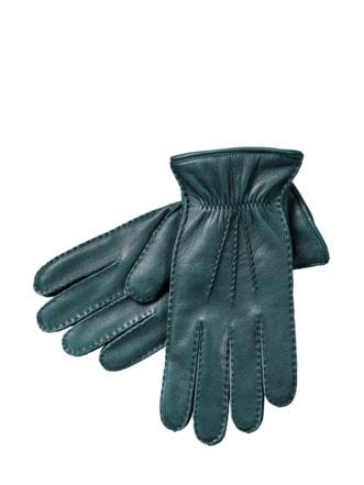 Hirsch-Handschuh verde bottiglia Detail 1