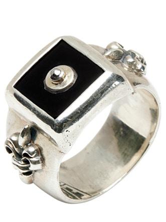Meteorit-Ring silber Detail 1