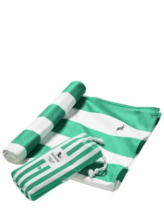 Schnell-trocken-Handtuch Streifen grün/weiß Detail 1