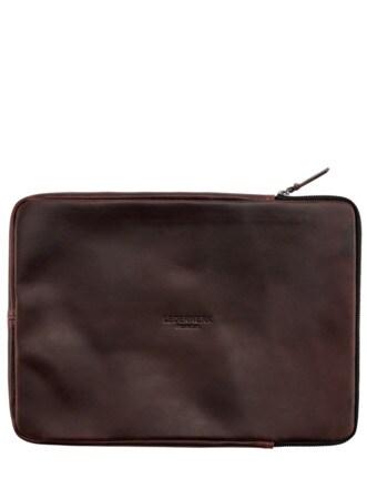 Büffel-Laptopmappe kastanie Detail 1