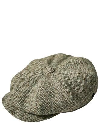 Newsboy Cap 1920 grün/natur Detail 1