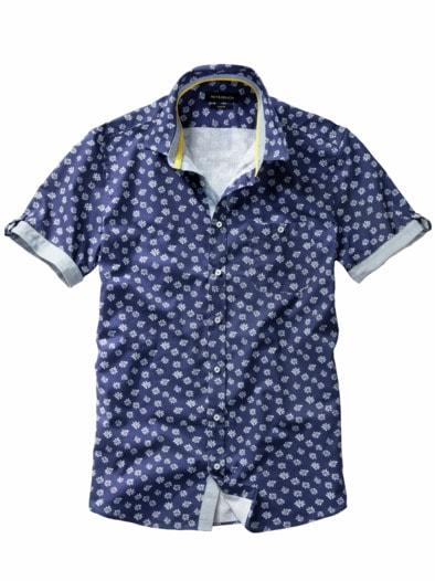 Blaudruck-Hemd