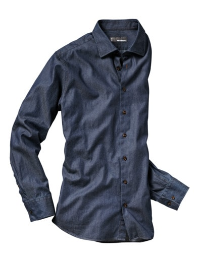 Excellence-Jeanshemd Slim Fit