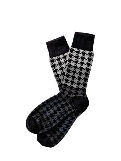 Hahnentritt-Socken