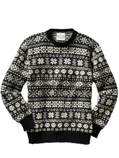 Black and White Fair Isle