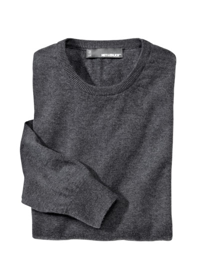 Der graue Pullover Slim Fit
